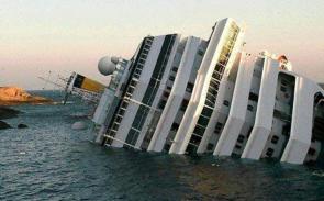 Etter en snau time sank skipet nært land